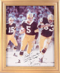BURT REYNOLDS PAUL HORNUNG SIGNED AND INSCRIBED PHOTOGRAPHS