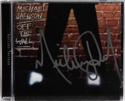 MICHAEL JACKSON SIGNED OFF THE WALL COMPACT DISC