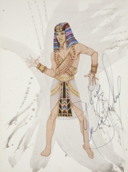 MICHAEL JACKSON SIGNED COSTUME DESIGN