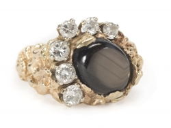 ELVIS PRESLEY BLACK SAPPHIRE AND DIAMOND RING