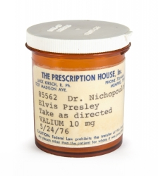 ELVIS PRESLEY VALIUM PILL BOTTLE