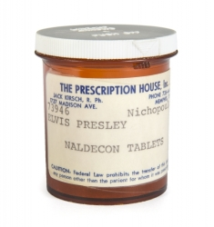ELVIS PRESLEY NALDECON PRESCRIPTION BOTTLE