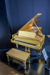 ELVIS PRESLEY 24K GOLD LEAF GRAND PIANO AND BOOK
