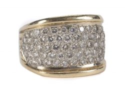 ELVIS PRESLEY DIAMOND AND YELLOW GOLD RING