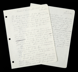 JOHNNY CASH HANDWRITTEN BIBLE STUDY