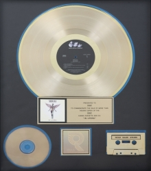 "NIRVANA ""GOLD"" RECORD AWARD"