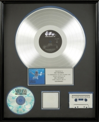 "NIRVANA ""PLATINUM"" RECORD AWARD"