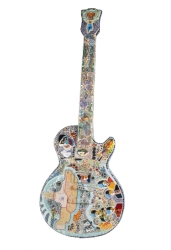 BEATLES YELLOW SUBMARINE GUITAR SCULPTURE