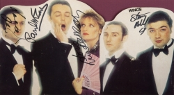 PAUL MCCARTNEY AND WINGS SIGNED CUTOUT