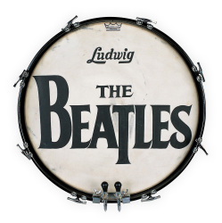 **THE BEATLES 1964 ED SULLIVAN SHOW DRUM HEAD