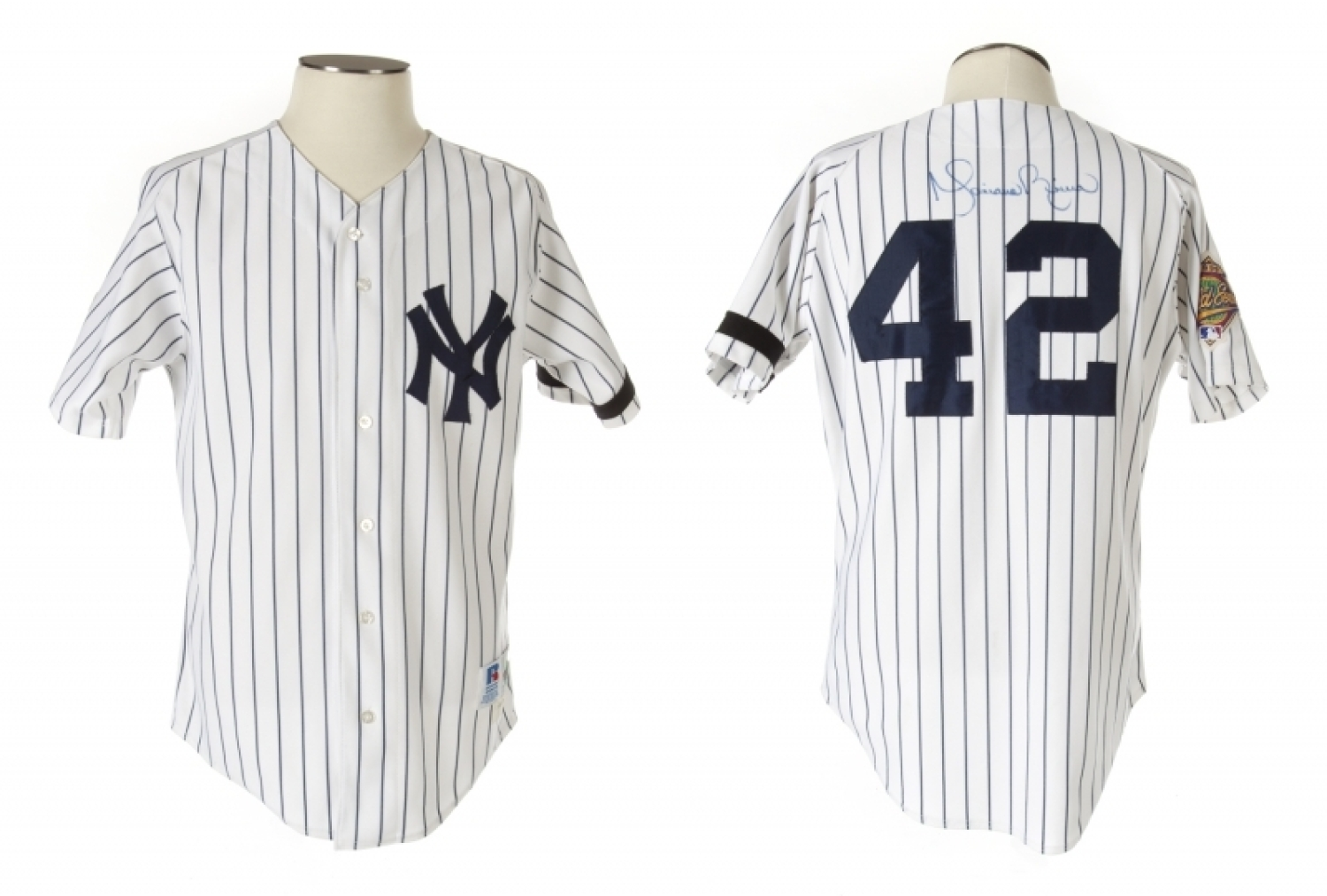 44889b162 Lot 20 of 495  MARIANO RIVERA 1996 NEW YORK YANKEES GAME WORN AND SIGNED  HOME JERSEY