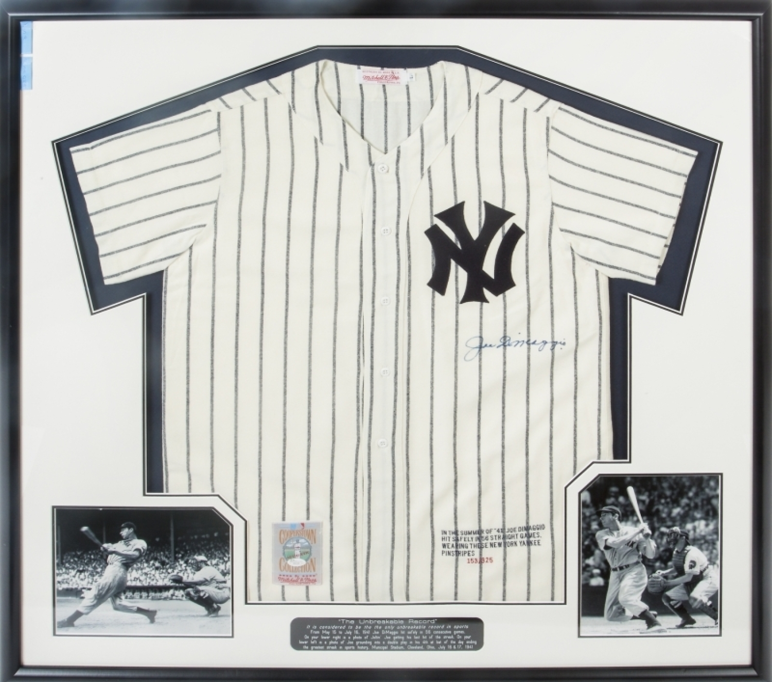 668bc84f335 Lot 26 of 495  JOE DiMAGGIO SIGNED 56-GAME HITTING STREAK LIMITED EDITION  NEW YORK YANKEES JERSEY