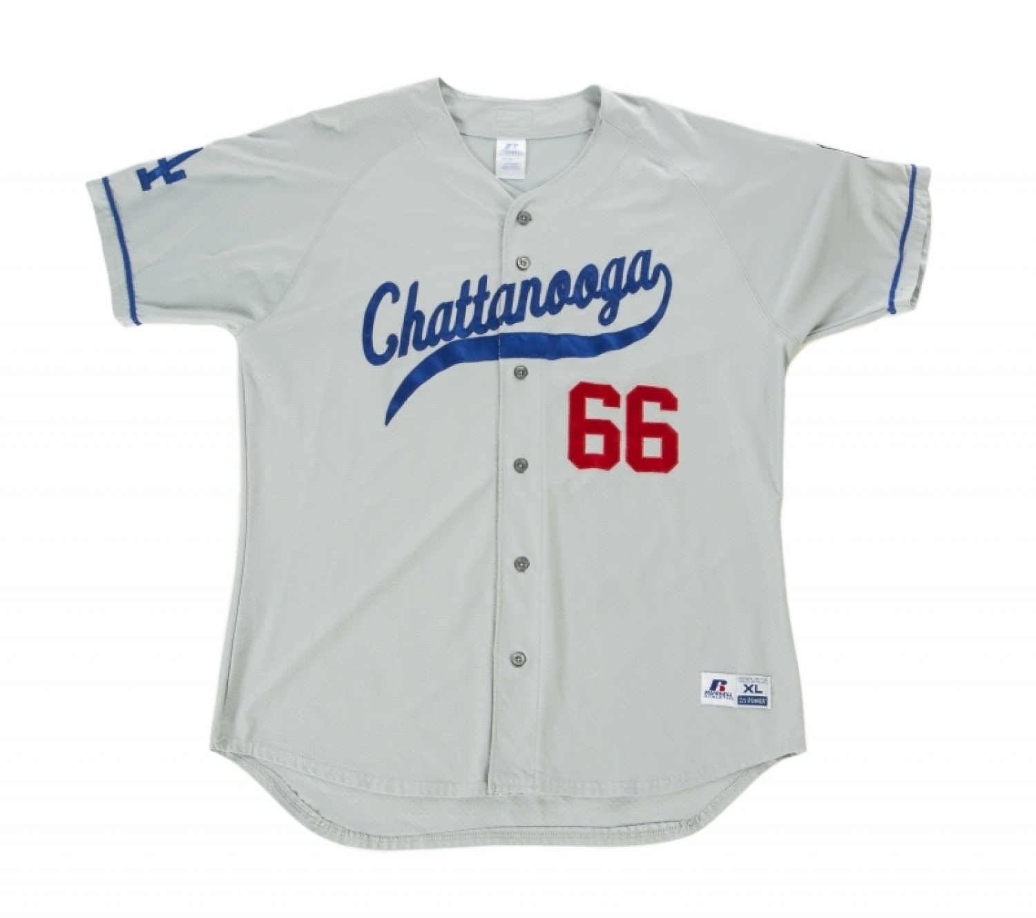 89b8ec841 YASIEL PUIG 2013 CHATTANOOGA LOOKOUTS GAME WORN ROAD JERSEY - Current  price   250