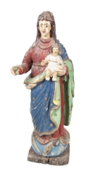 PAINTED VIRGIN MARY STATUE