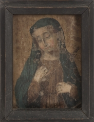THREE VINTAGE VIRGIN MARY ARTWORKS