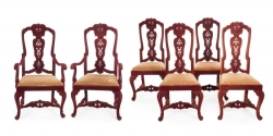 CONTEMPORARY WILLIAM AND MARY DINING CHAIRS