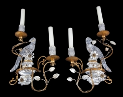 PAIR OF PARROT SCONCES