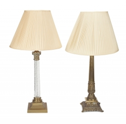TWO ANTIQUE TABLE LAMPS