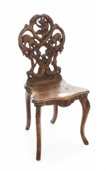 ANTIQUE SWISS CARVED CHAIR