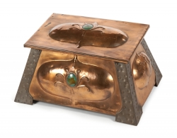 ART NOUVEAU COPPER COAL SCUTTLE