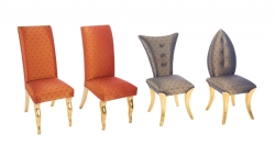 GROUP OF FOUR DINING CHAIRS