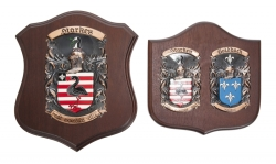 TWO COAT OF ARMS PLAQUES
