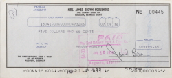 JAMES BROWN SIGNED CHECK
