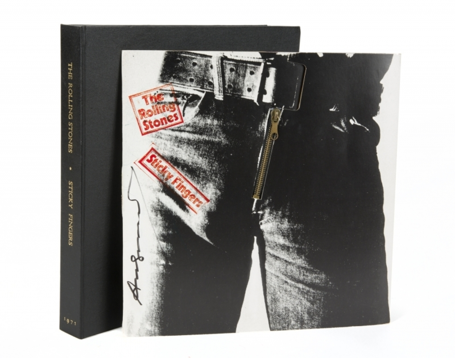 ANDY WARHOL SIGNED ROLLING STONES STICKY FINGERS ALBUM