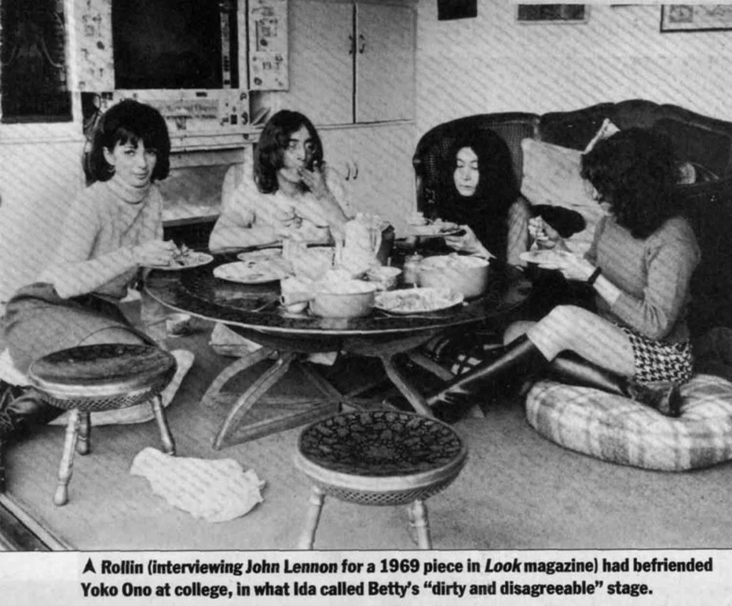 John Lennon And Yoko Ono Table And Stools Set