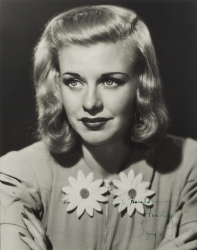 GINGER ROGERS PHOTOGRAPH SIGNED TO HAROLD LLOYD