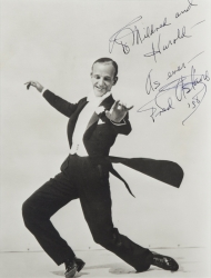 FRED ASTAIRE PHOTOGRAPH SIGNED TO HAROLD LLOYD