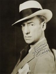 O.O. McINTYRE PHOTOGRAPH SIGNED TO HAROLD LLOYD