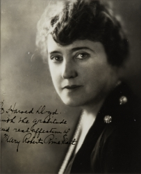 MARY ROBERTS RINEHART PHOTOGRAPH SIGNED TO HAROLD LLOYD