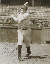 BABE RUTH PHOTOGRAPH SIGNED TO HAROLD LLOYD