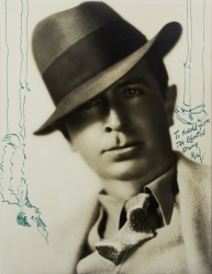 MALCOLM ST. CLAIR PHOTOGRAPH SIGNED TO HAROLD LLOYD