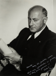 CECIL B. DeMILLE PHOTOGRAPH SIGNED TO HAROLD LLOYD