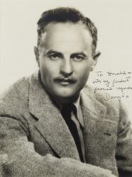 DARRYL F. ZANUCK PHOTOGRAPH SIGNED TO HAROLD LLOYD
