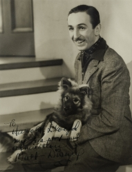 WALT DISNEY PHOTOGRAPH SIGNED TO HAROLD LLOYD