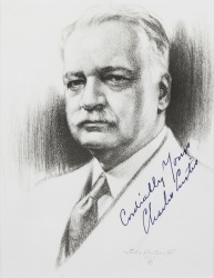 CHARLES CURTIS PHOTOGRAPH SIGNED FOR HAROLD LLOYD