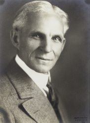 HENRY FORD PHOTOGRAPH SIGNED FOR HAROLD LLOYD