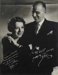 LILY PONS AND ANDRE KOSTELANETZ PHOTOGRAPH SIGNED TO HAROLD LLOYD