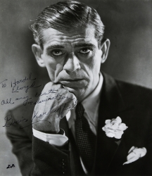BORIS KARLOFF PHOTOGRAPH SIGNED TO HAROLD LLOYD