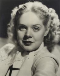 ALICE FAYE PHOTOGRAPH SIGNED TO HAROLD LLOYD