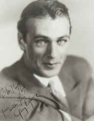 GARY COOPER PHOTOGRAPH SIGNED TO HAROLD LLOYD