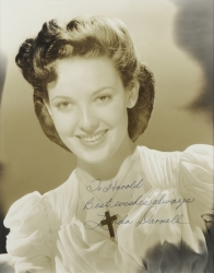 LINDA DARNELL PHOTOGRAPH SIGNED TO HAROLD LLOYD