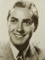 TYRONE POWER PHOTOGRAPH SIGNED TO HAROLD LLOYD