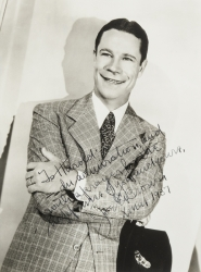 JOE E. BROWN PHOTOGRAPH SIGNED TO HAROLD LLOYD