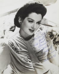 ROSALIND RUSSELL PHOTOGRAPH SIGNED TO HAROLD LLOLD LLOYD