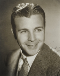 DICK POWELL PHOTOGRAPH SIGNED TO HAROLD LLOYD