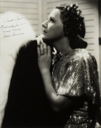 IRENE DUNNE PHOTOGRAPH SIGNED TO HAROLD LLOYD